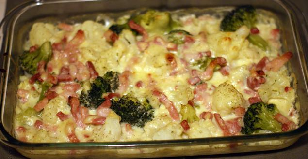 Recette de gratin de chou fleur et brocolis au munster et - Choux de bruxelles recette gratin ...