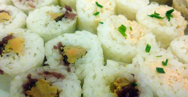 Recette japonaise: les makis! Feuille de choux