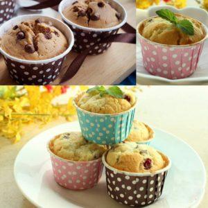 moules a cupcakes a pois- Feuille de choux