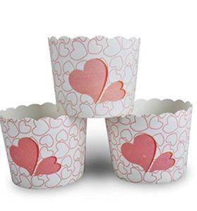 moules a cupcakes coeur - feuille de choux