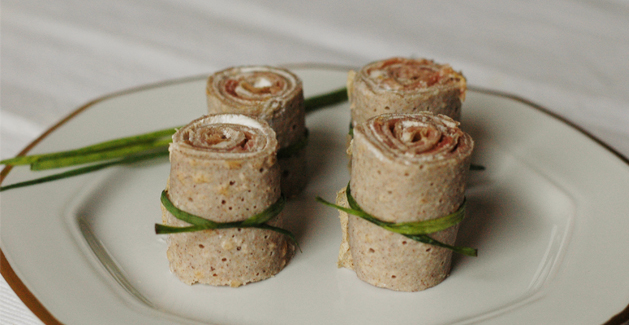Maki galettes de jambon cru et fromage frais - Feuille de choux