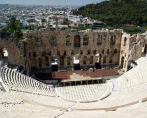 Théatre Athènes Grèce - Feuille de choux