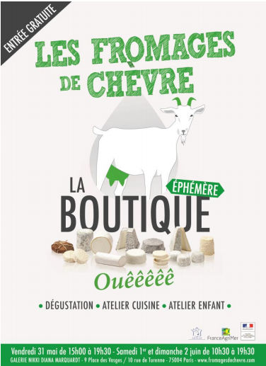 Boutique éphémère fromage de chèvre - Feuille de choux
