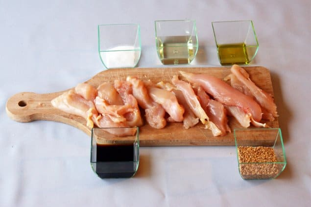 chicken teriyaki preparation