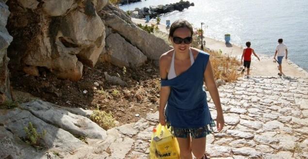 C'est moi, sur l'ile d'hydra! Feuille de choux