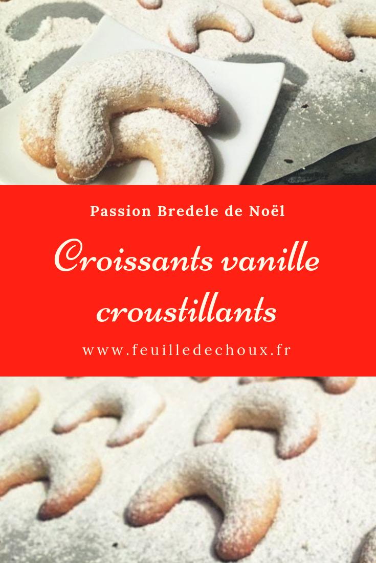 bredele croissant vanille feuille de choux