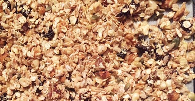 Granola maison recette feuille de choux