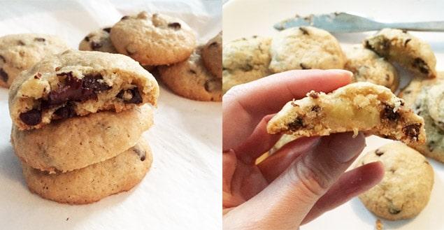 cookies michel et augustin fourres chocolat et banane