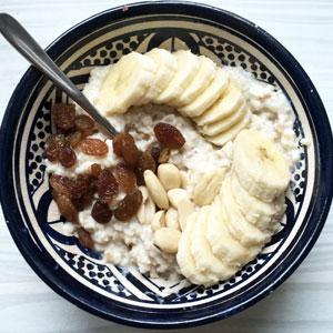 Porridge coco banane pour diet réussie