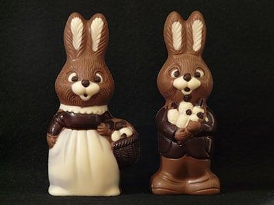 Lapin en chocolat pour Pâques-Feuille de choux