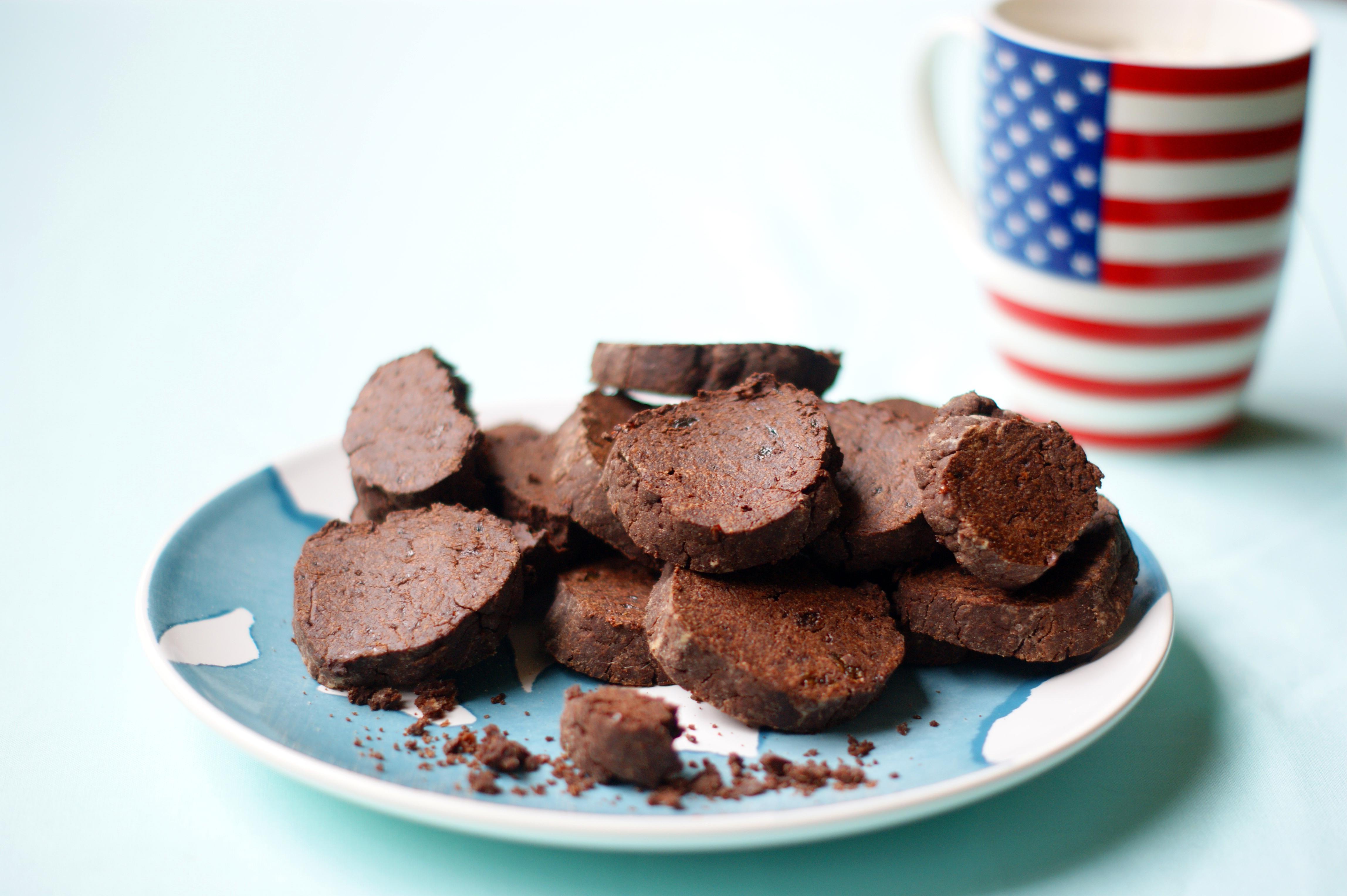 Sablés cacao et fleur de seul sans sucre