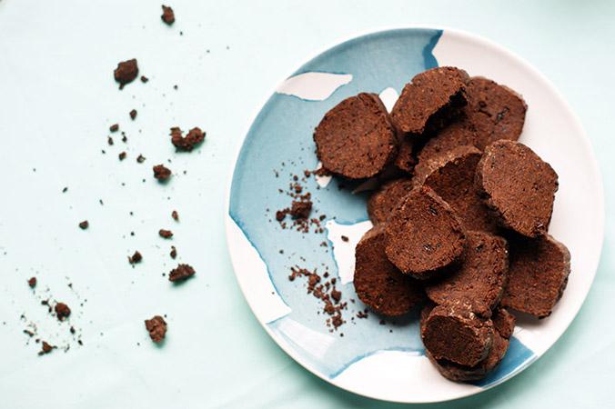 Biscuits sablés irrésistibles chocolat et fleur de sel (Sans sucre!)