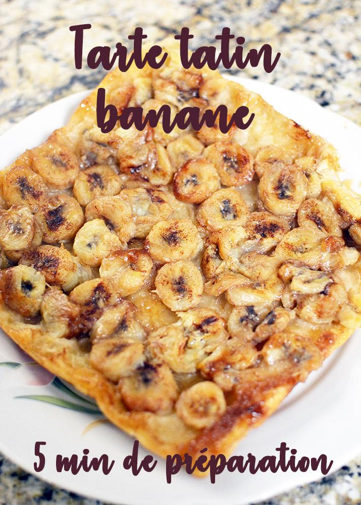 tarte tatin banane verticale 5 min de preparation - Feuille de choux