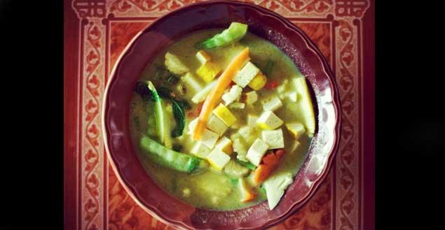 Curry vert thai-Feuille de choux