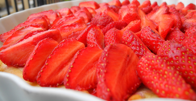 Tarte aux fraise cheesecake-Feuille de choux