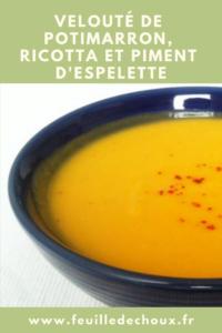 Velouté potimarron / ricotta / piment d'Espelette 1