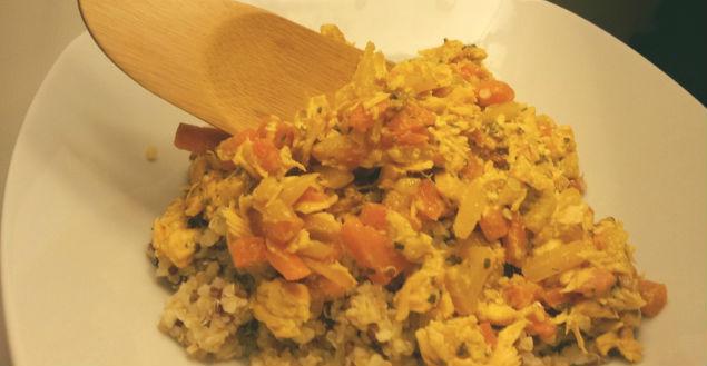 Recette de boulgour / quinoa au saumon, recette détox - Feuille de choux