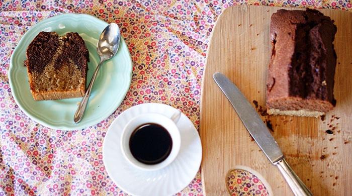 Marbré chocolat gateau super facile-Feuille de choux