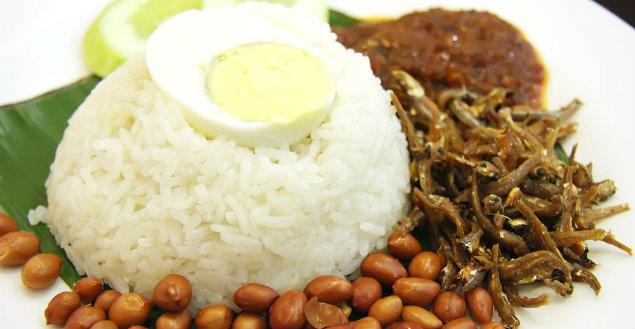 Nasi lemak - Feuille de choux