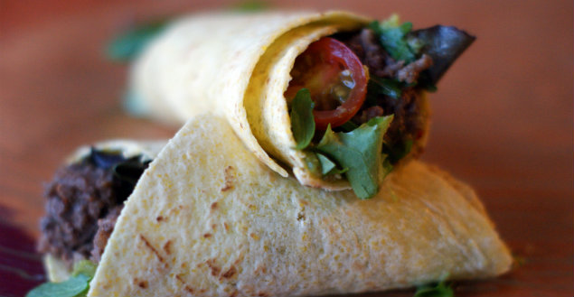 Les burritos mexicains! Feuille de choux