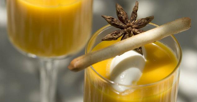 Soupe de carotte à l'anis - Feuille de choux