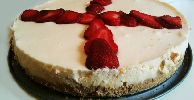 Gâteau semi-froid aux fraises - Feuille de choux