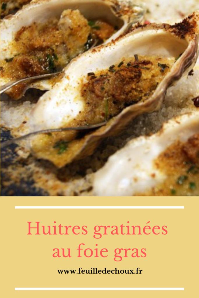 Huîtres au foie gras gratinées 1