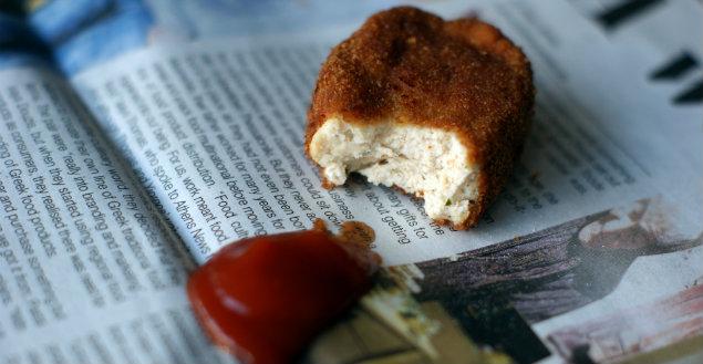 Nuggets maison au poulet - Feuille de choux