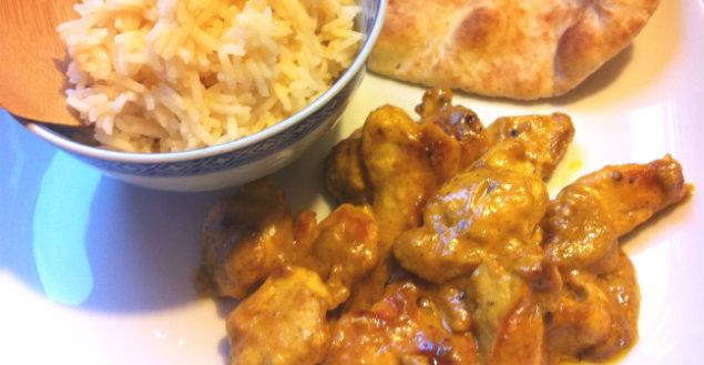 Poulet au curry maison - Feuille de choux
