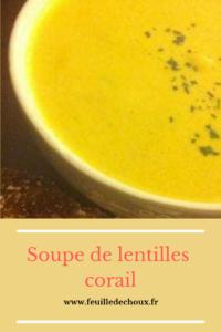 Soupe de lentilles corail 1