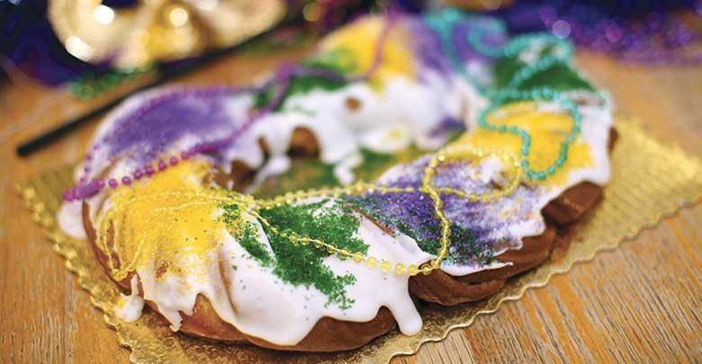 king cake de la nouvelle orleans-Feuille de choux