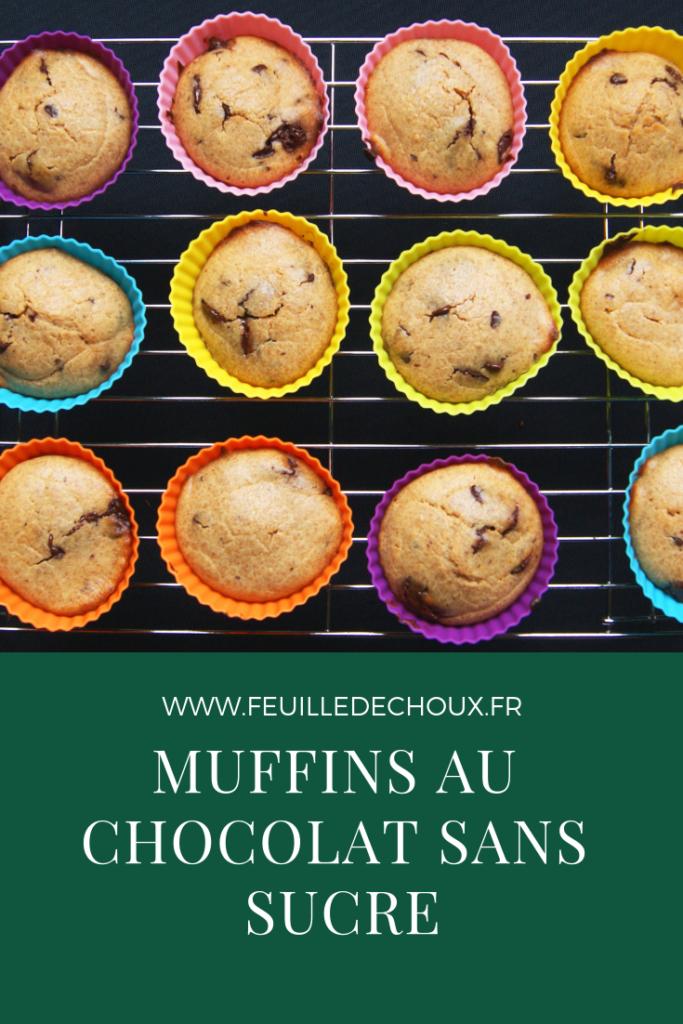 Muffins au chocolat sans sucre 1