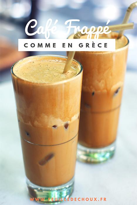 café frappé grec recette