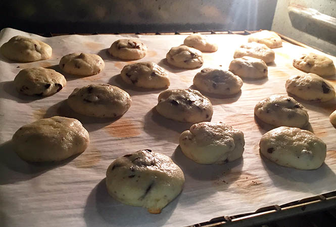 Cookies sans oeuf en cuisson