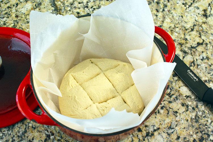 pain cocotte recette rapide avant cuisson-feuille de choux.j