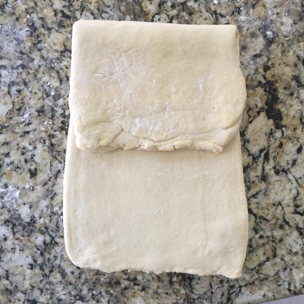 Pliage en porte feuille 2 - recette de kouign amann