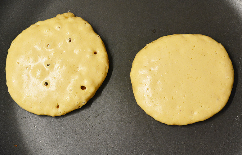 Pancake américain prêt à être retrainés