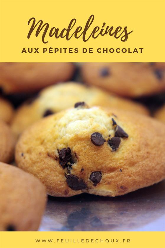 madeleines aux pépites de chocolat - Feuille de choux