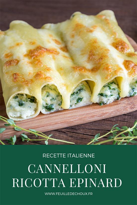 cannelloni ricotta épinard recette