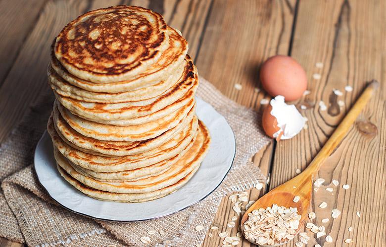 pancakes aux flocons d'avoine recette- feuille de choux