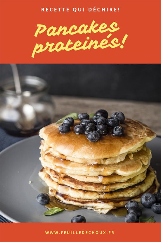 recette de pancakes proteinés