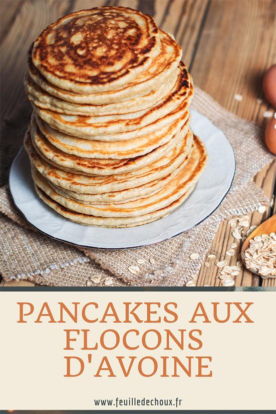 recette de pancakes ux flocons d'avoine healthy