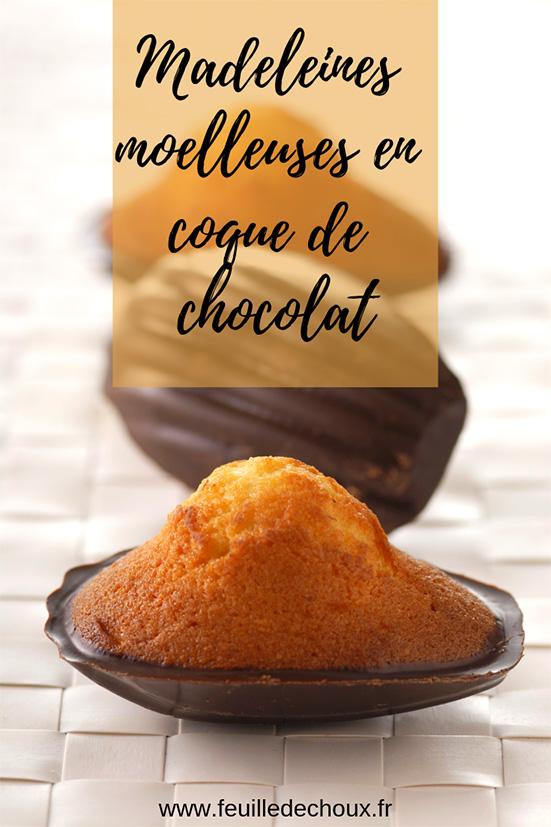 recette madeleines en coque de chocolat