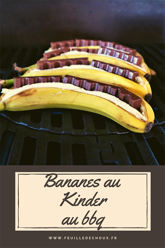 Banane au barbecue au chocolat kinder